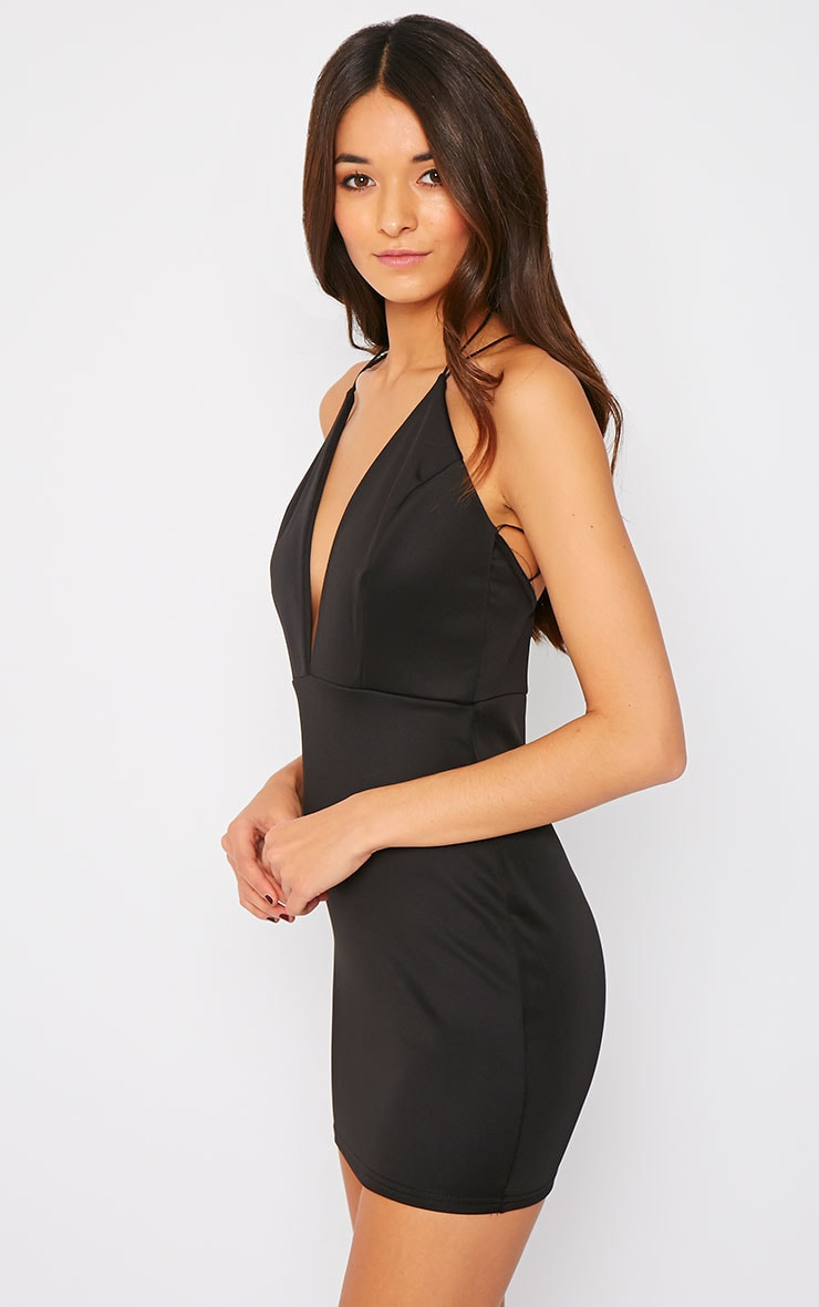 Gisele Black Plunge Dress 4