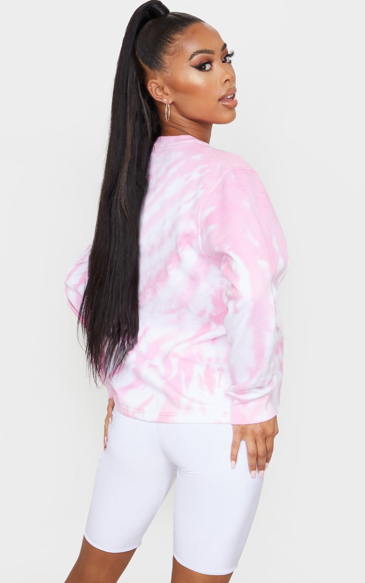Pink Oversized Tie Dye Sweater 2