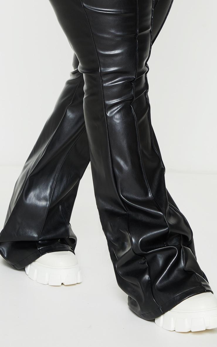 Plus Black PU Seam Detail Trousers 4