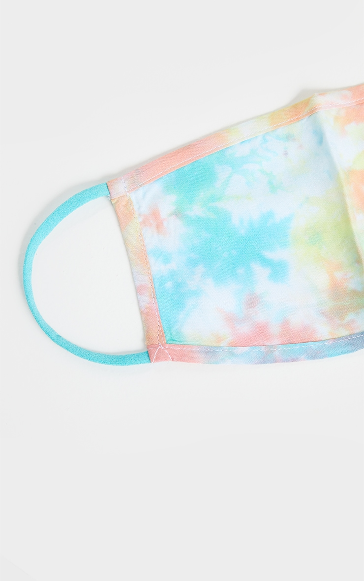 Pink Contrasting Tie Dye Mask 3