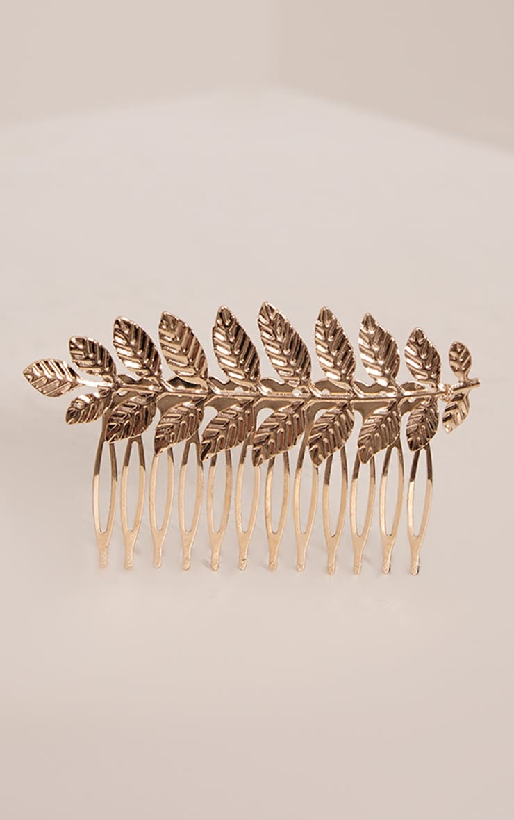 Deyli Gold Leaf Hair Grip 3