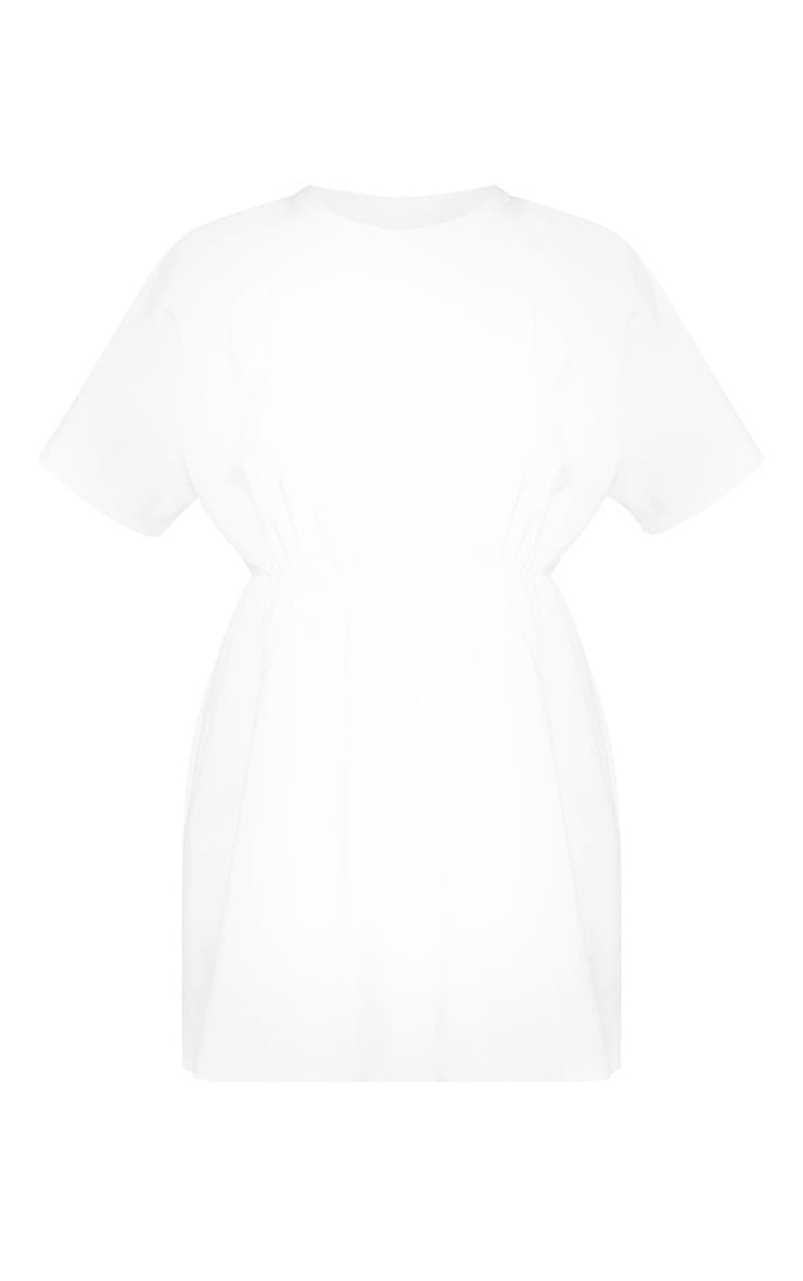 White Waist Detail Sweater Dress 3
