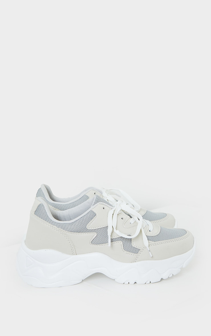 White Pink Bubble Sole Sneakers 4