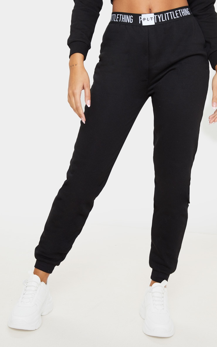 PRETTYLITTLETHING Black Lounge Jogger 2