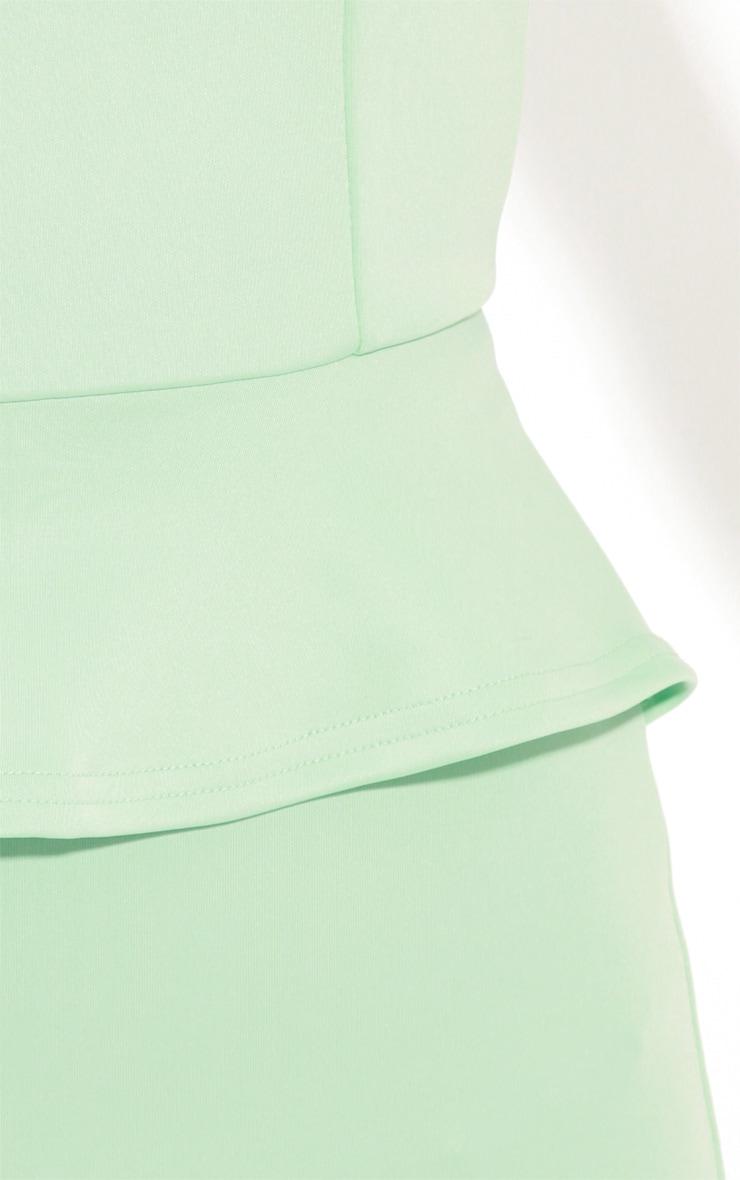 Rylie Mint Peplum Dress  5
