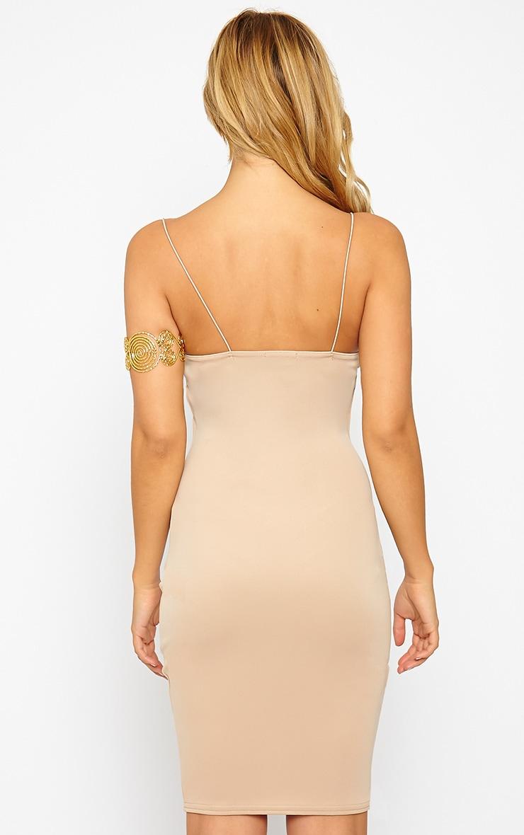 Marisole Stone Plunge Front V Bar Dress 2