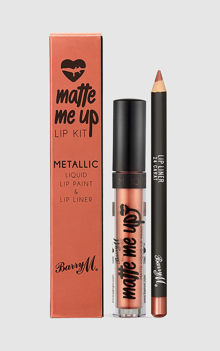 BarryM Metallic Liquid Lip Kit 24 Carat