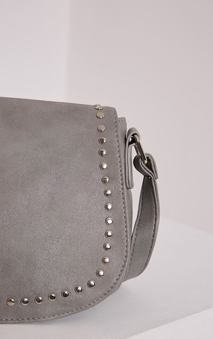Dusti Grey Studded Shoulder Bag 5