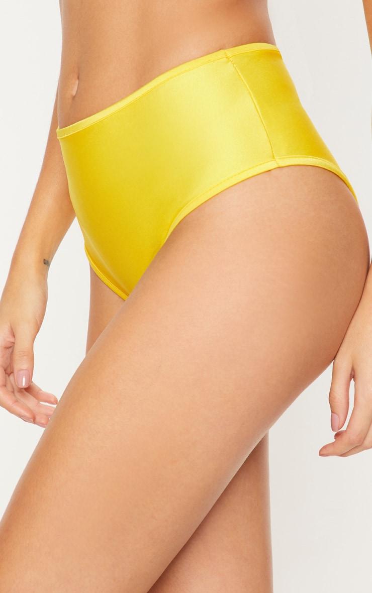 Yellow Mix & Match High Waisted Bikini Bottom 6