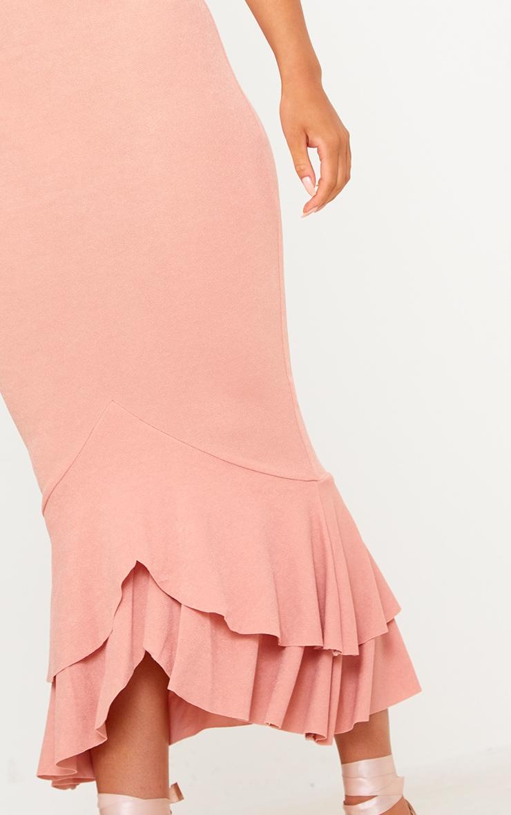 Blush Strappy Fishtail Midi Dress 4