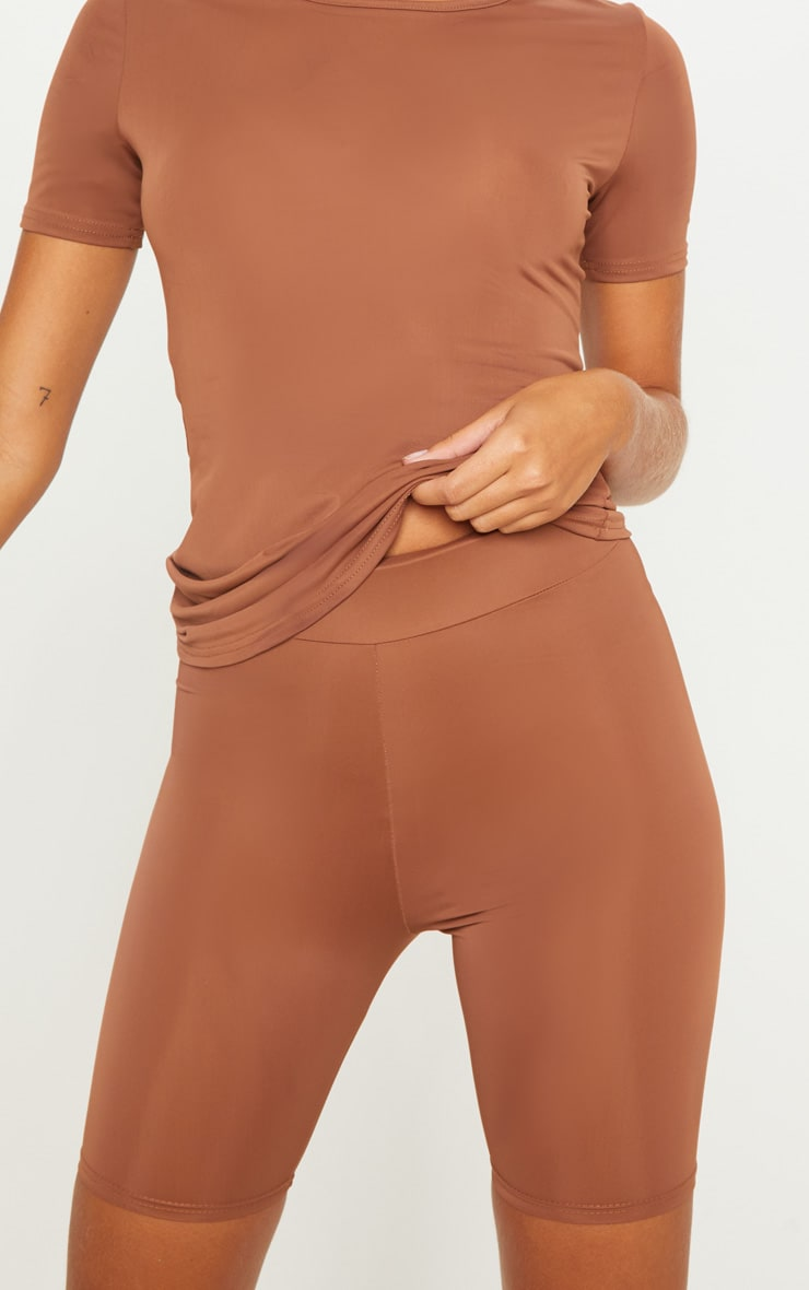 Brown Basic Gym Cycle Short 6