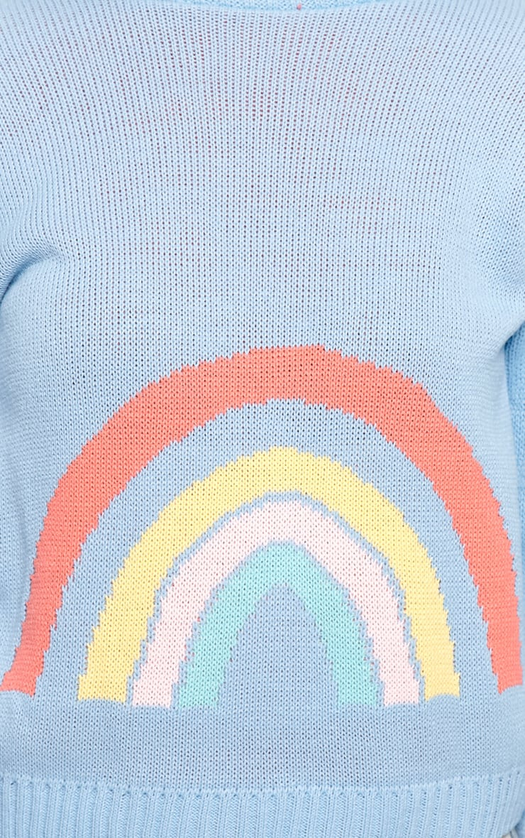 Melanie Blue Rainbow Sweater  5