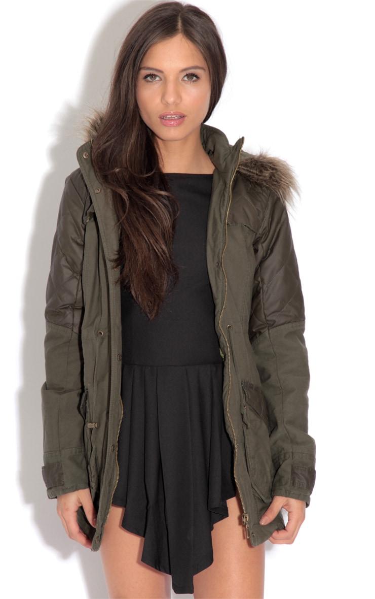 Cynthia Khaki Parka Coat 5