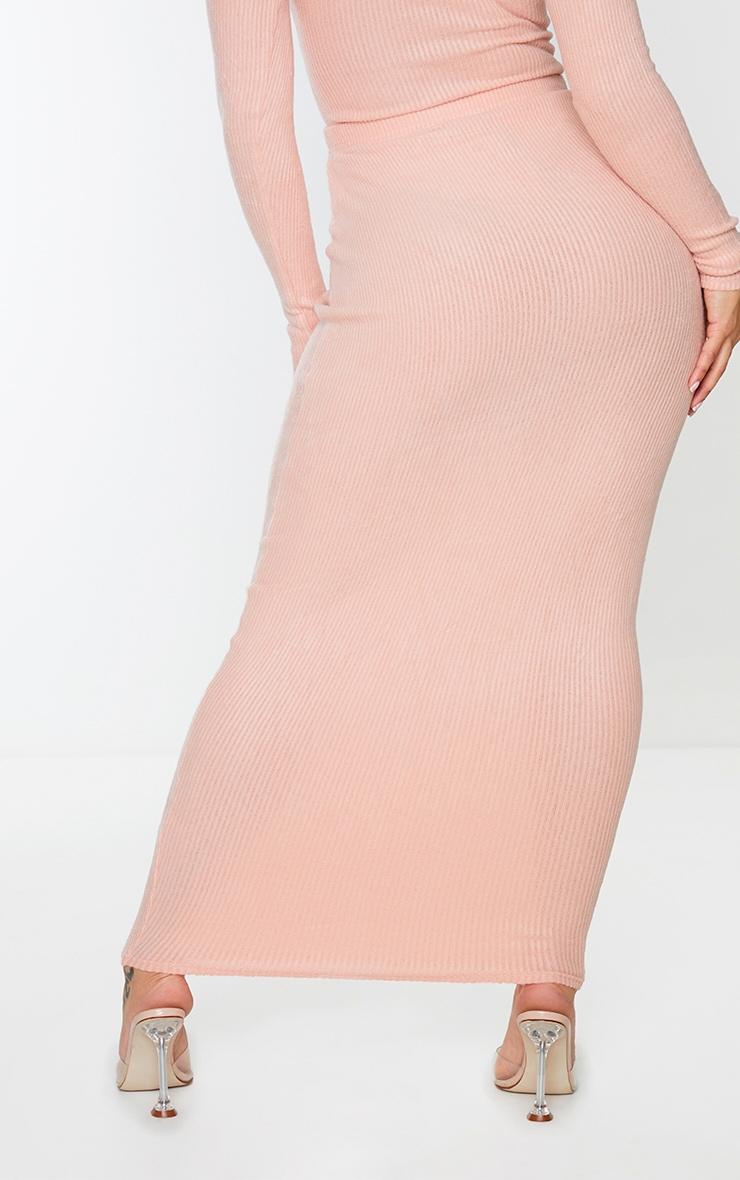 Shape Pink Brushed Rib Midaxi Skirt 3