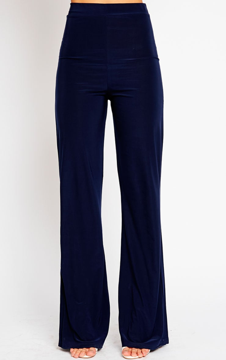Remi Navy Soft Touch Wide Leg Trousers 2