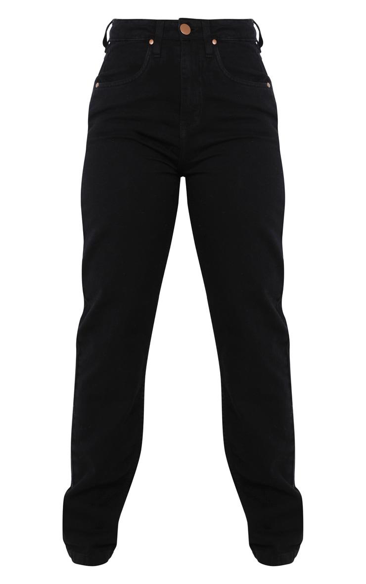 Petite Black Slim Leg Mom Jean 3