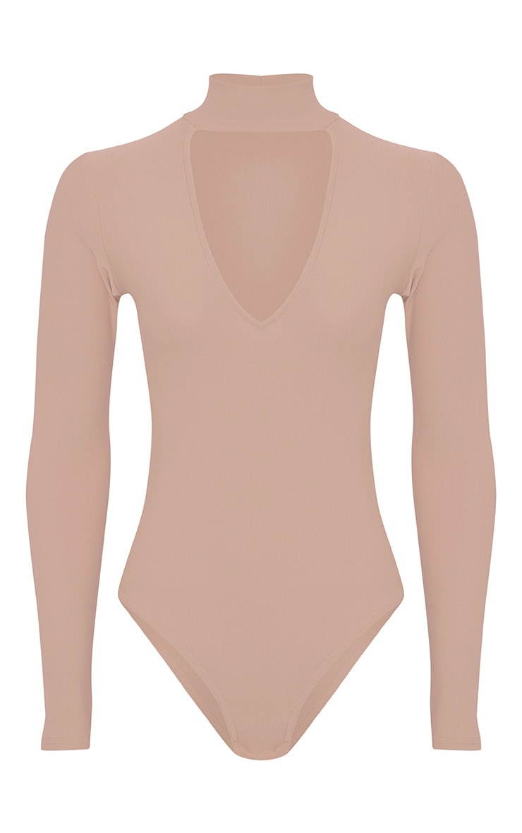 Skylee Stone Cut Out Neck Thong Bodysuit 3