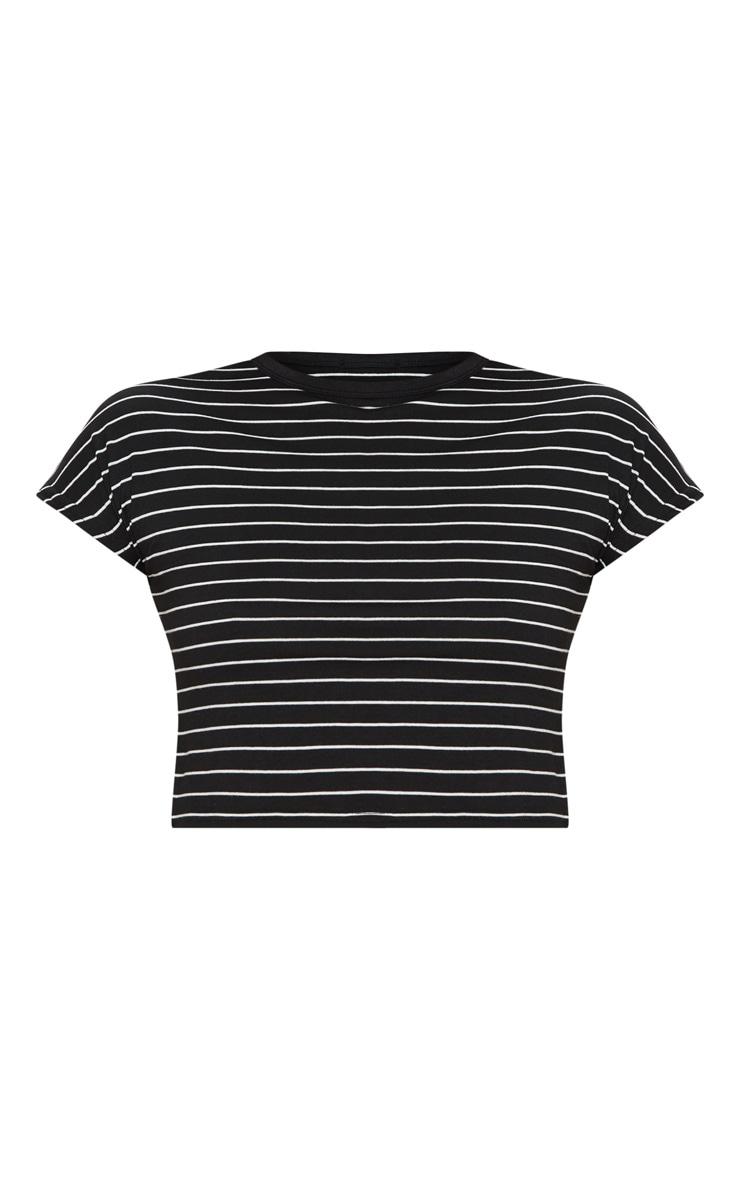 Black Stripe Swing Short Sleeve T Shirt  3