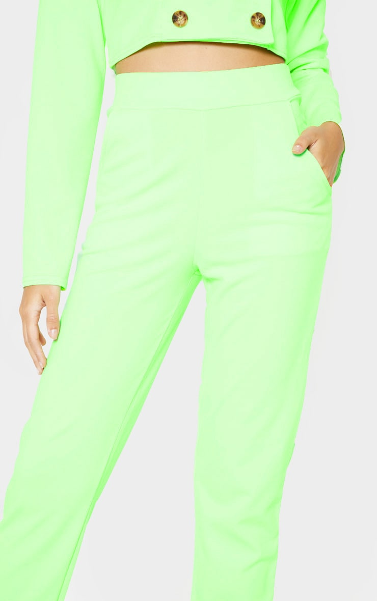 Neon Green Straight Leg Pants 5