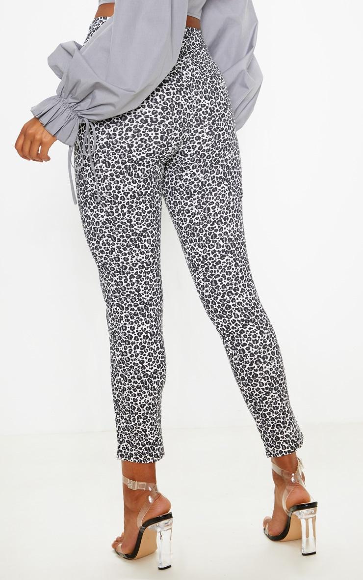 Grey Leopard Print Skinny Trouser 4