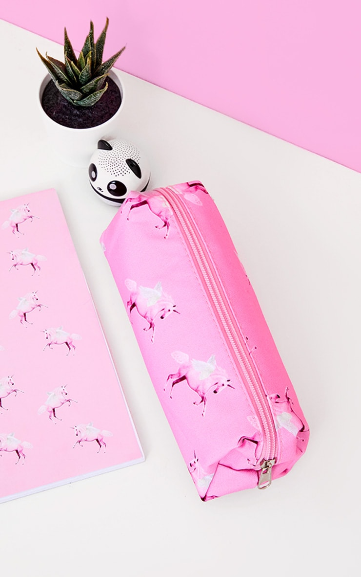 PRETTYLITTLETHING Pink Unicorn Pencil Case 1