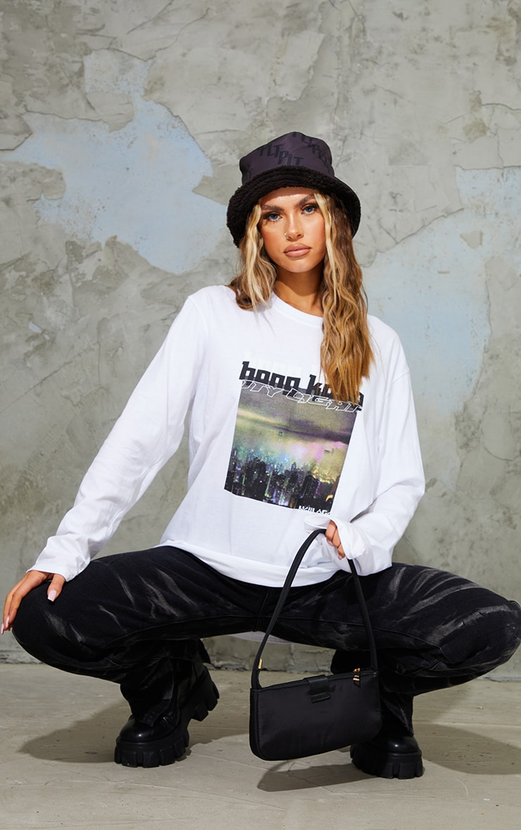 White City Lights New Age Printed Long Sleeve T Shirt 3