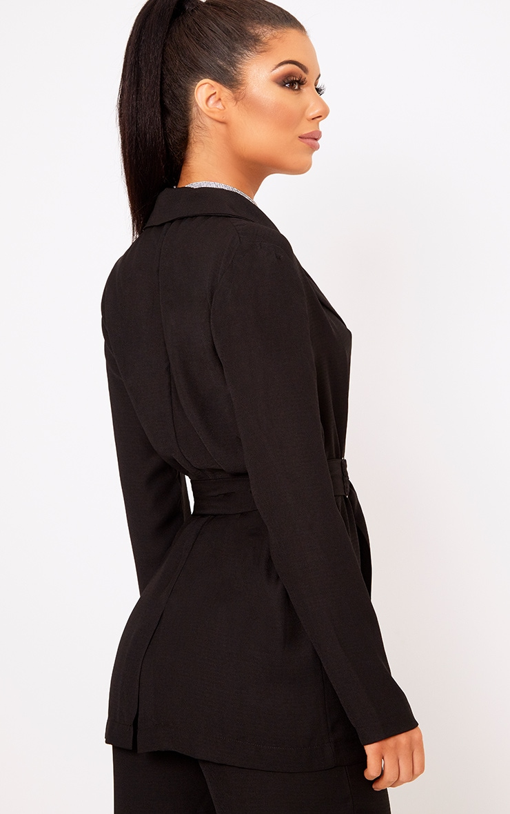 Romilly Black Belted D Ring Detail Blazer 2