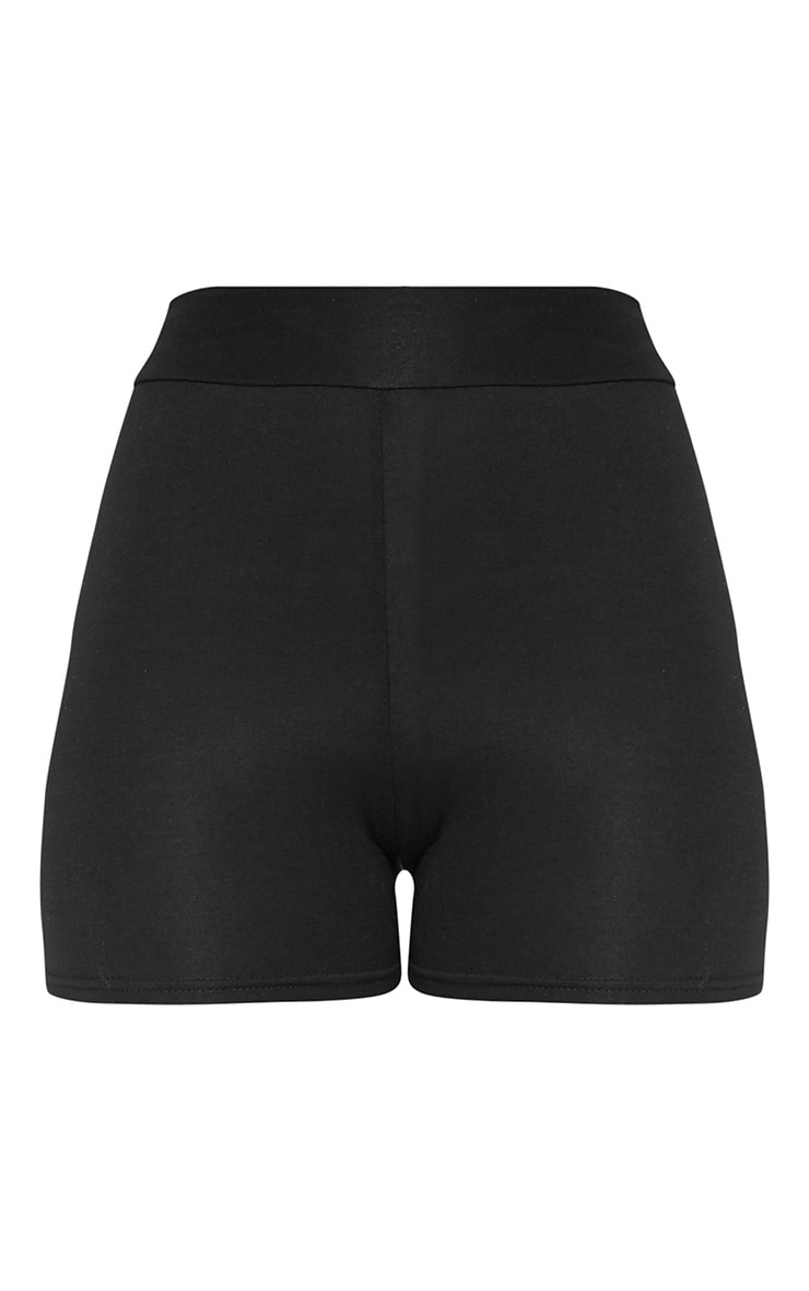 Basic Black High Waisted Shorts 2