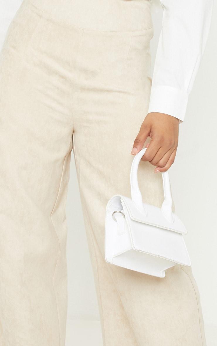 Tall - Pantalon en suédine gris pierre à jambes évasées 5