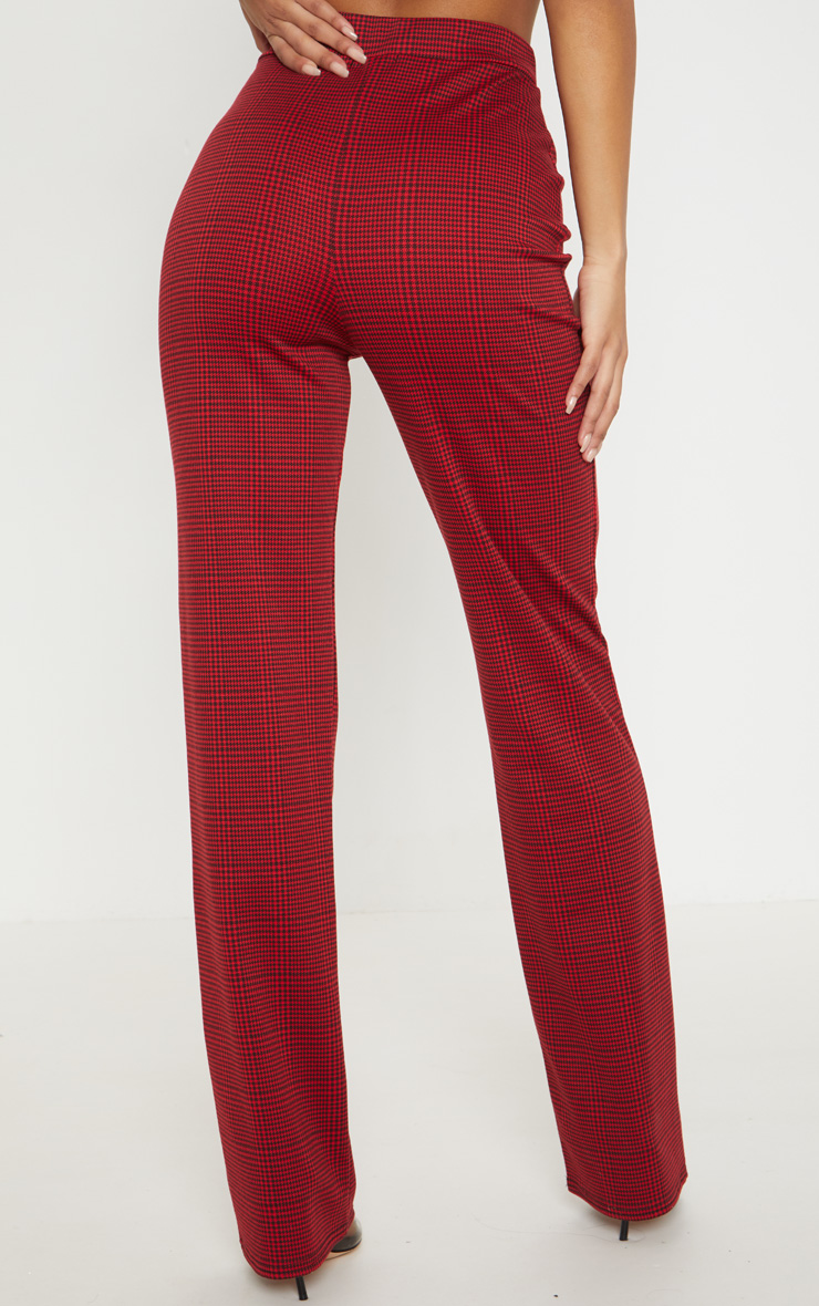 Red Checked Trouser 4