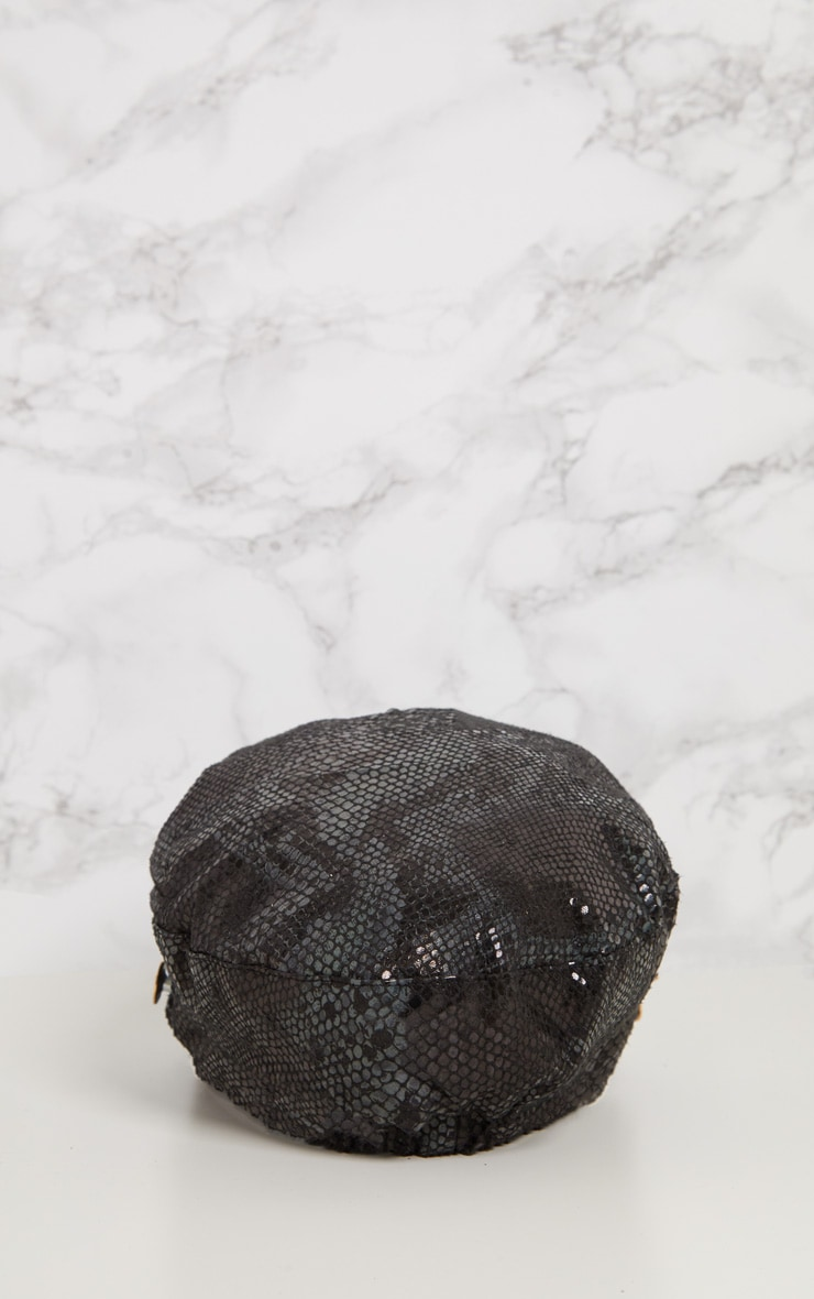 Black Snake Baker Boy Hat 5