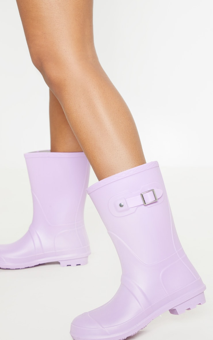 Lilac Pastel Wellie 1