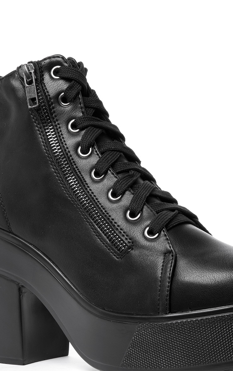 Mila Black Lace Up Boot  5