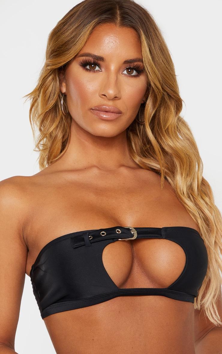 Black Belted Bandeau Bikini Top 5