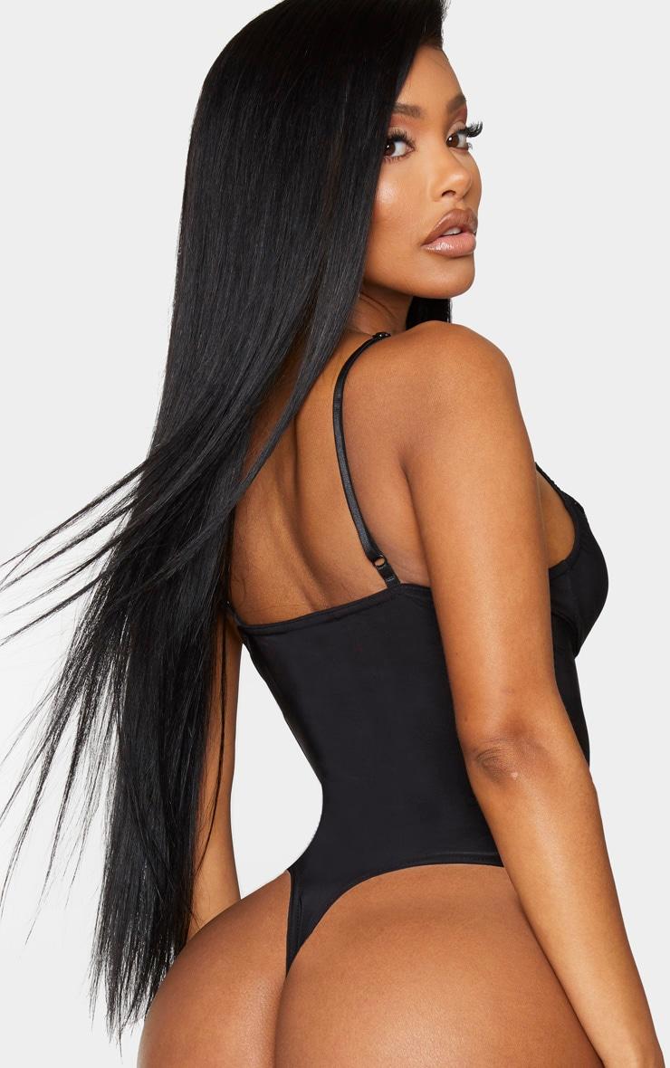 Shape Black Lace Trim Cup Detail Body 2