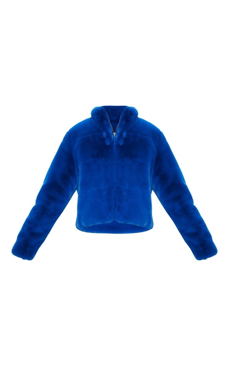 Cobalt Faux Fur Jacket 3