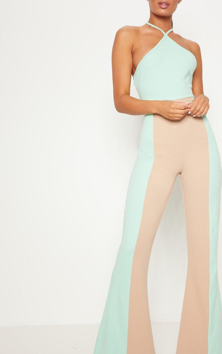 Mint Colour Block Jumpsuit 3
