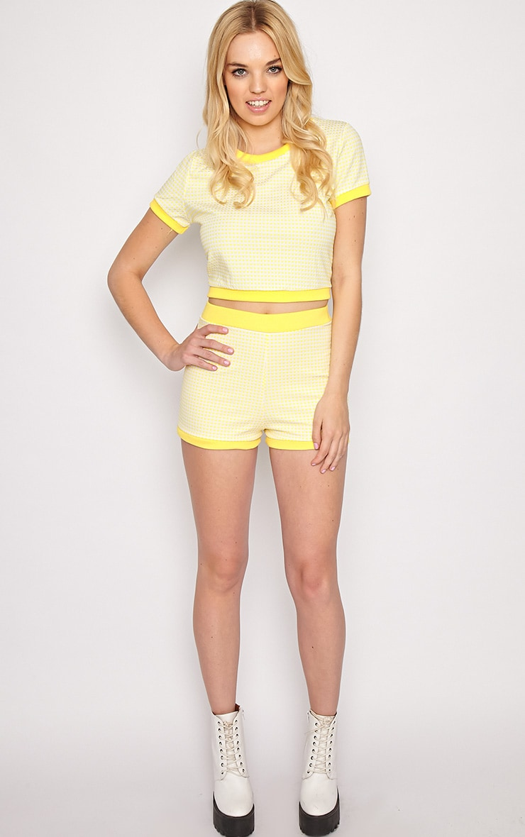 Mabel Yellow Gingham Shorts 5