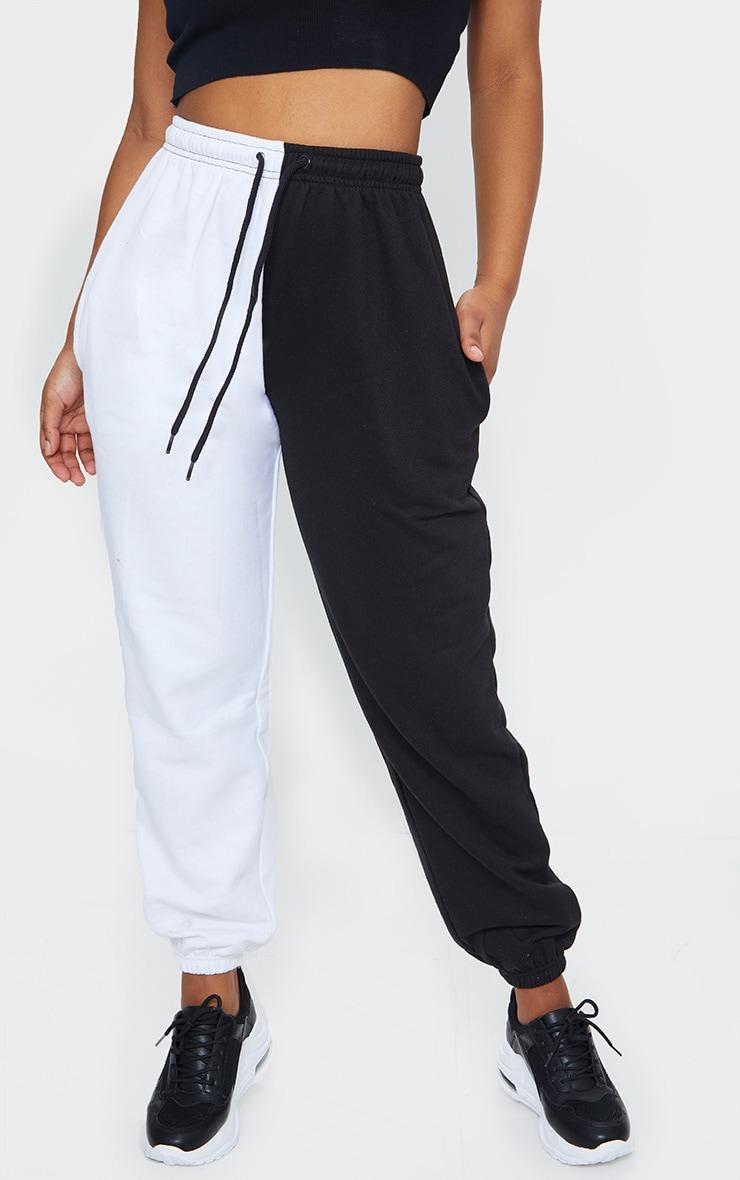 Black Contrast Leg Joggers 2