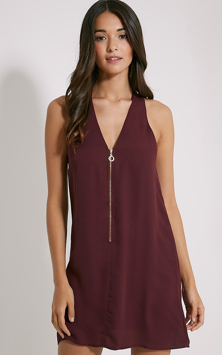 Essence Plum Zip Detail Dress 1
