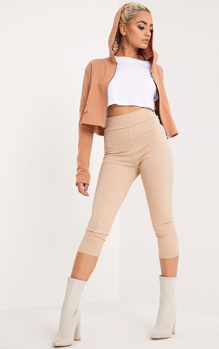 Imogen Peach Lace Up Detail Cropped Hoodie 4