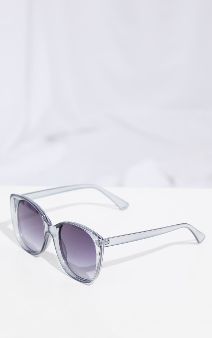 Grey Clear Cat Eye Sunglasses 3