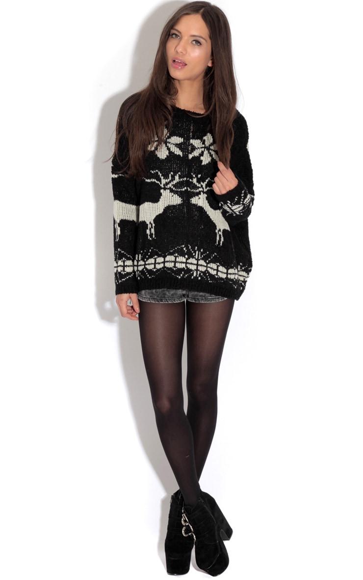 Black Reindeer Jumper-One Size 3