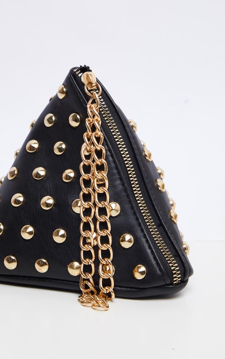 Black PU Studded Pyramid Grab Bag 2