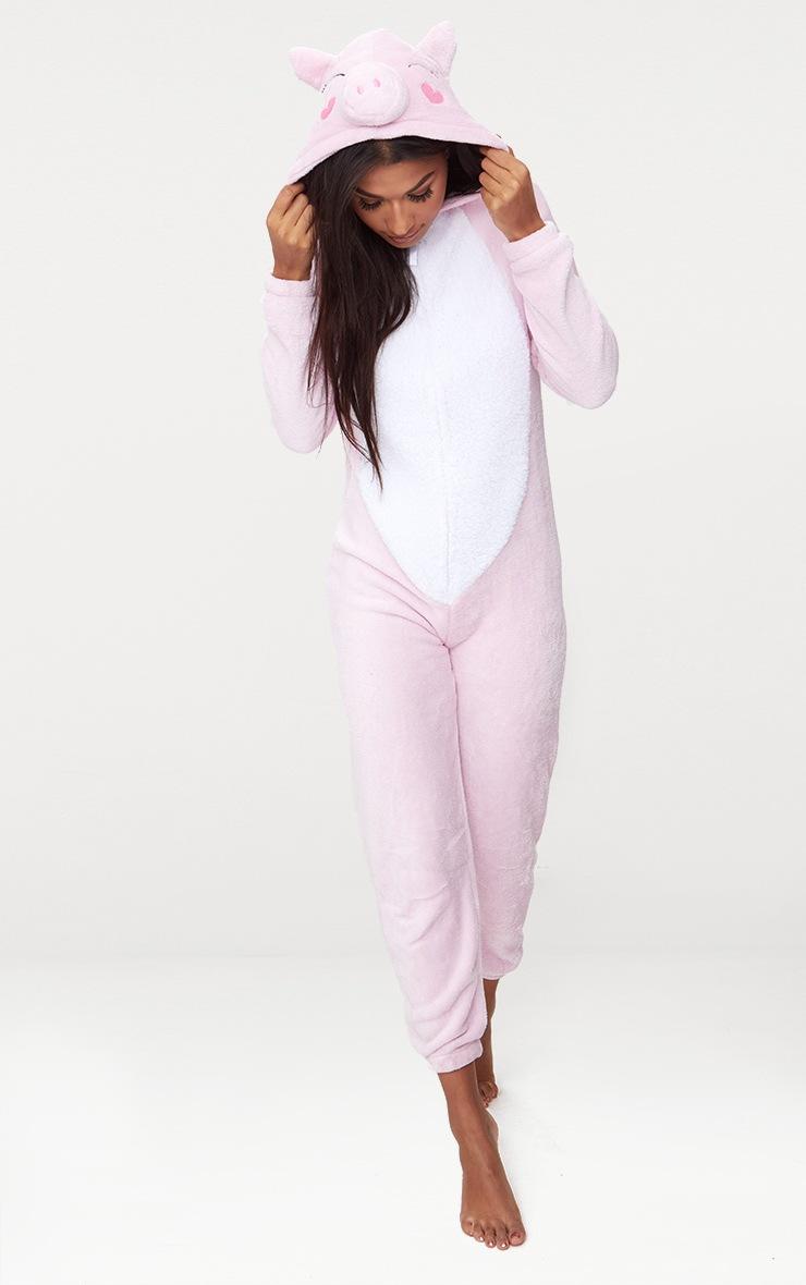 Pink Pig Onesie 1