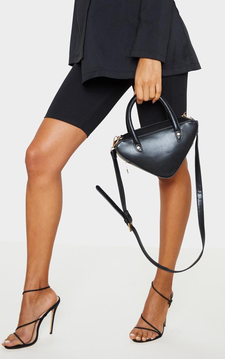Black Triangle Shape Grab Bag  1