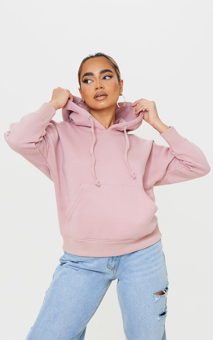 PRETTYLITTLETHING Petite Pale Pink Graphic Hoodie 3