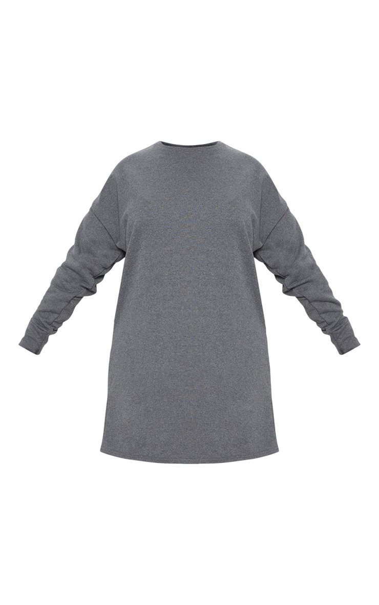 Plus Charcoal Oversized Sweater Dress 3