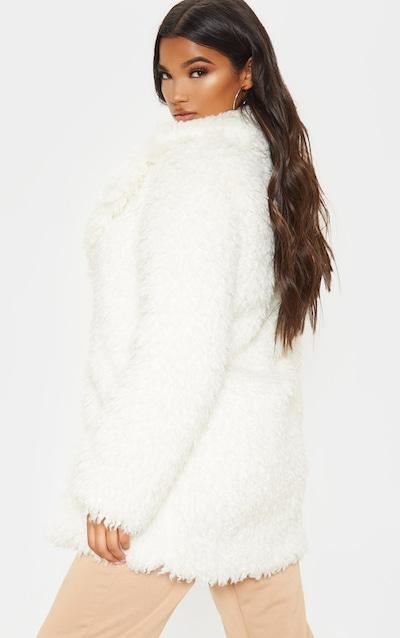 White Teddy Faux Fur Coat