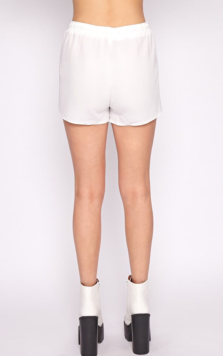 Rena White Tassel Tie Runner Short  2